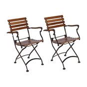 Furniture Design House European Bistro Folding Armchair - Set of 2