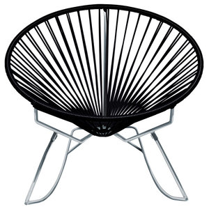 Acapulco Vinyl Cord Chair With White Frame Contemporary