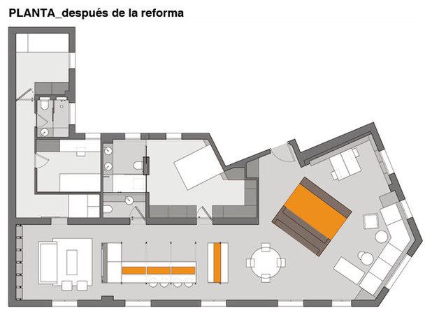 Plano de planta by La Reina Obrera - Arquitectura e Interiorismo