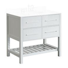 "Bosconi SB-250-3WHMC 35"" Cabinet Only in White"