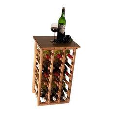 18 Bottle Floor Model Wine Rack, Oak