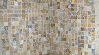 walk in the shower travertine