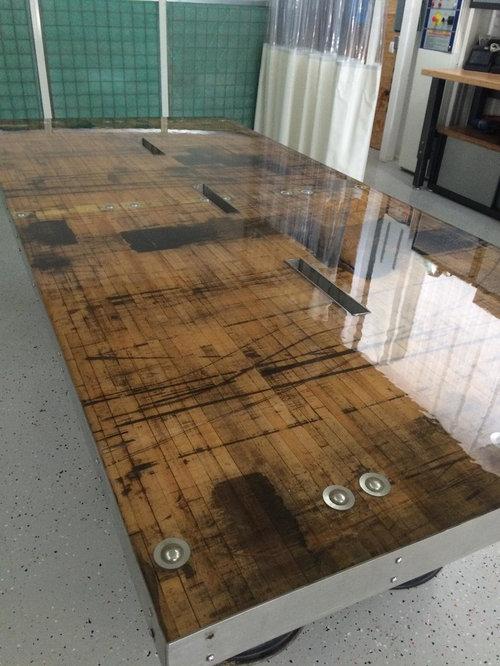 Railcar Plank Tables