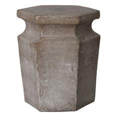 Hex Garden Stool/Table, Stone Gray