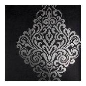 Lux Charcoal Foil Damask Wallpaper Bolt