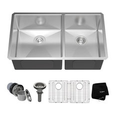 kraus undermount 5050 double bowl 16 gauge stainless steel kitchen sink - Kitchen Sinks Photos