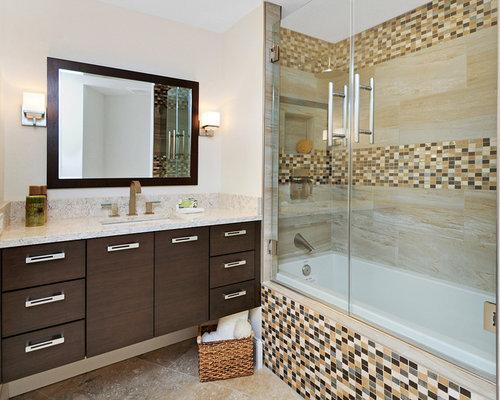 CONTEMPORARY WALNUT BATHROOM VANITY - Bathroom Cabinets
