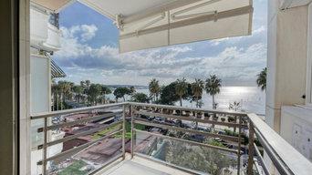 Rénovation de l'appartement de Mme O sur la croisette à Cannes