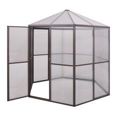vidaXL Greenhouse Aluminium, 240x211x232 cm