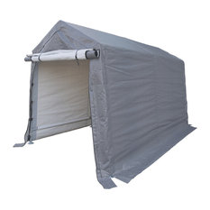 Peak Style Storage Shed, Gray