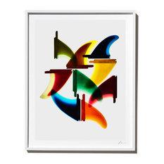 """G&S Starfins"" Surf Art Photograph, White Frame, 40''x52''"