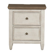 Liberty Furniture Heartland 2 Drawer Night Stand w/ Charging Station