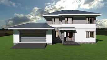 Проект кирпичного дома 334 м2 - 2 этажа