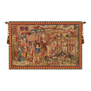 Le Tournai I Vertical European Tapestry Wall Hanging Traditional Tapestries By European Wall Art