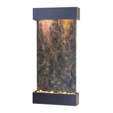 Whispering Creek Water Feature, Green Marble, Blackened Copper