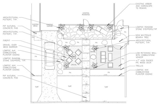 Site And Landscape Plan Beach Contemporary Front Yard