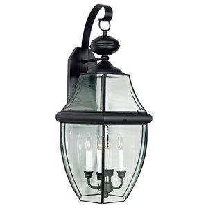 Extra Large 4-Light Newbury Outdoor Lantern, Mystic Black