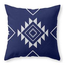 "Society6 Navy Aztec, Throw Pillow, Indoor Cover, 20""x20"", Pillow Insert"