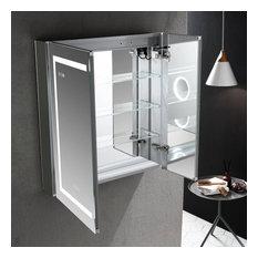 LED Medicine Cabinet With Defog, Dimmer, Makeup Mirror, Outlets, 30x32/3x