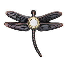 Solid Brass Summer Dragonfly Doorbell in 4 Finishes, Oil Rubbed Bronze