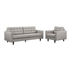 Light Gray Empress Armchair And Sofa Set Of 2