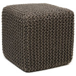 Anji Mountain - Gray Jute Pouf, Square - This pouf brings some stylish versatility to your living space. Perfectly sized for duty as a stool or an ottoman and ready to switch gears at a moments notice. It sits nice and firm for excellent support yet offers a touch of comfort with a natural jute cover.