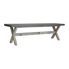 Charles Bentley Concrete and Wood Dining Bench