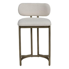 SHAY Counter Stool Modern Contemporary Upholstery Mild Steel Fa