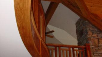 Jatoba and White Oak Stair Case