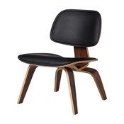 Helena Lounge Chair, Black Leather