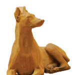 Tuscan - Doberman Down Cast Stone Outdoor Asian Collection, Cotto (CT) - PLEASE NOTE: all planters have freight LTL shipping included. If you would like to purchase a few planters we can combine all items into one shipment to save additional shipping costs.