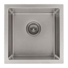 ZLINE Boreal 15 inch Undermount Single Bowl Bar Sink in Stainless Steel (SUS-15)