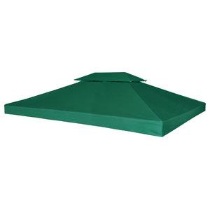 vidaXL Waterproof Gazebo Cover Canopy, 3x4 m, Green