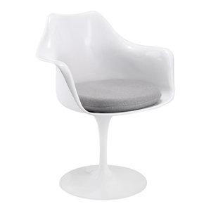 Lippa Dining Upholstered Fabric Armchair, Gray