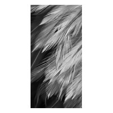 Feather Design1 Bw, Canvas Giclee
