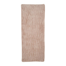 Lavish Home Memory Foam Extra Long Bath Rug Mat, Taupe, 24x60