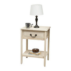 GDF Studio Noah Wood Top Drawer Accent Table Reclaimed