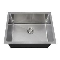 "Stainless Steel Single Bowl 3/4"" Radius Sink, 18-Gauge, Sink Only"