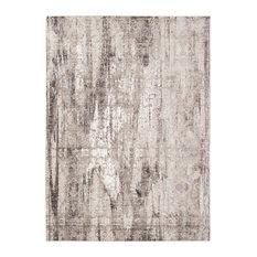 "Chamisce Nanteer Aqua Gray Polyester Area Rug, 7'10""x10'10"""