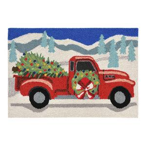 """Liora Manne Frontporch Joy Ride Indoor/Outdoor Rug Gray 24""""x36"""""""