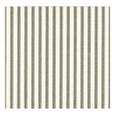 """Round Tablecloth French Country Brindle Gray Ticking Stripe, 90"""""""