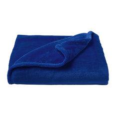 LHC Microfiber Velvet Throw Blanket, Midnight Blue