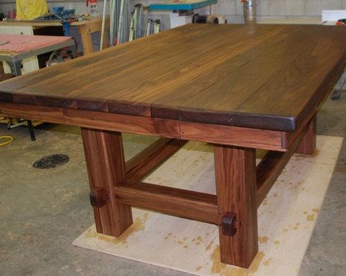 Chad Womack Design Solid Walnut Kitchen Island Furniture