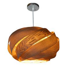 Wooden Ribbon Pendant Lamp