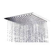 AKDY Square Stainless Steel Shower Head, Chrome Finish, Without Arm