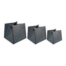 Ctg Brands Inc Square Felted Storage Baskets 15x14 5x14 Dark Gray