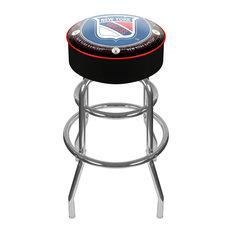 NHL Vintage Padded Swivel Barstool, New York Rangers