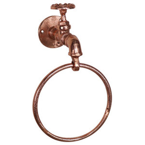 Copper Metal Tap Towel Ring