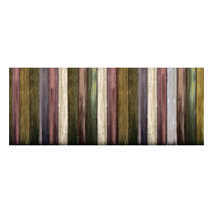 Colourful Wood Printed Fence Screen, 150x300 Cm
