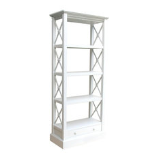 Cross Bar Bookshelf White